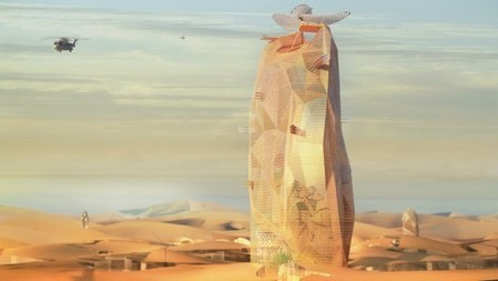 "Sustainable ""VERTICAL city"" envisioned for the Sahara 