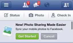 Facebook Promoting Photo Sync | TechCrunch | Facebook, Twitter and the Optometry Practice | Scoop.it