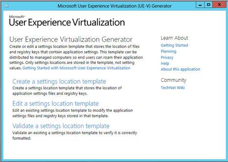 Microsoft UE-V Tool Saves App Settings Across PCs, Tablets | Windows Infrastructure | Scoop.it