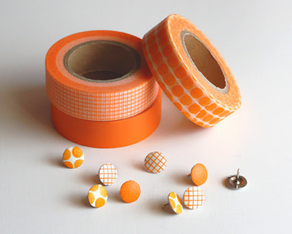 Washi tape thumbtacks   How About Orange   Idées de DIY   Scoop.it