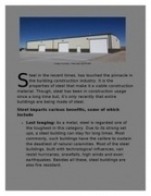 Convincing Factors to Make Steel a Top Notch Construction Option   A Home for your Aircraft   Scoop.it