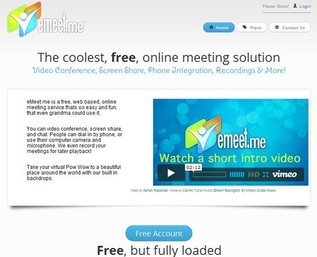 eMeet.me - Free Web Meetings for all... | Alt Digital | Scoop.it