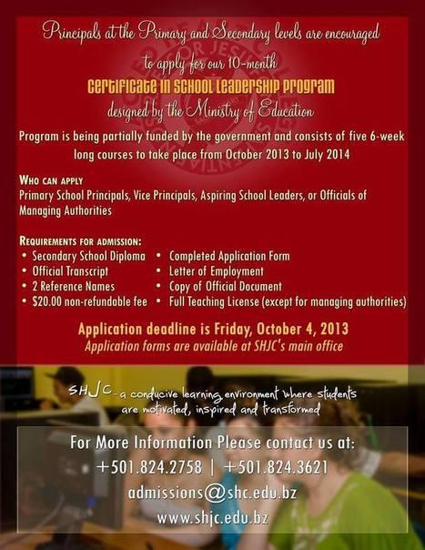 Application Deadline for SHJC's Certificate in Leadership Program | SHJC Heart Matters | Scoop.it