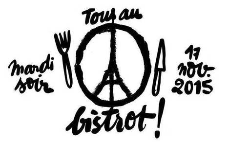 Peace for Paris, tous au bistrot ! - Guide Fooding® | Verres de Contact | Scoop.it