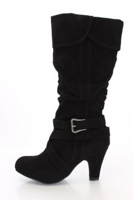 Black Faux Suede Mid-Calf Boots   The Season's Hottest Styles from Pink Basis   Scoop.it