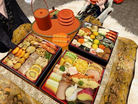 SECHI SET (Traditional Japanese New Year foods) by maiworks | Teleport Hub | Second Life Freebies | Scoop.it
