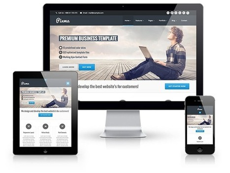 PIXMA - Responsive Multipurpose Template | Business & Corporate | WrapBootstrap - Bootstrap Themes & Templates | PIXMA - Responsive HTML5 Template | Scoop.it
