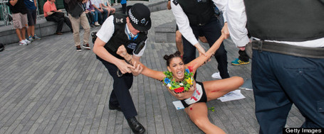Naked Fury: Topless Feminist Protesters At The Olympics | A Sense of the Ridiculous | Scoop.it