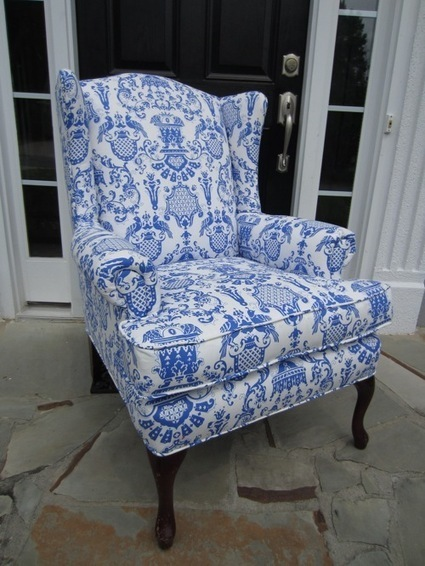 We've Got the Blues: 10 Blue and White Patterned Chair Designs | Designing Interiors | Scoop.it