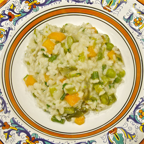 Risotto Primavera - Springtime Risotto: lovely seasonal vegetables in a dish | Le Marche and Food | Scoop.it