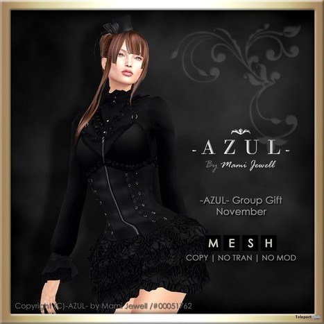 Black Dress November 2016 Group Gift by AZUL | Teleport Hub - Second Life Freebies | Second Life Freebies and bargains | Scoop.it