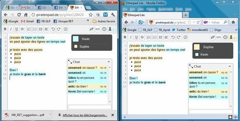 Hyper simple à utiliser : Piratenpad, traitement de texte collaboratif en ligne | le foyer de Ticeman | Scoop.it