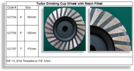 Turbo Cup Wheel Resin Filled|RM Tech Korea - Company Profile | Concrete Polishing Tools Accessaries | Scoop.it