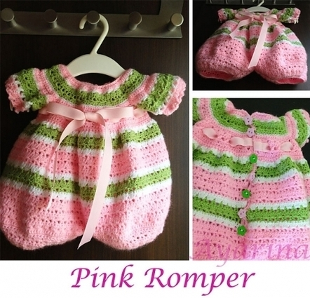 Free Crochet Pattern - Lollipop Baby Romper | Crochet | Scoop.it