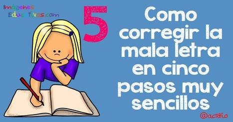 Como corregir la letra en cinco pasos muy sencillos + colección de fichas para practicar - Imagenes Educativas | Educación en Castilla-La Mancha | Scoop.it