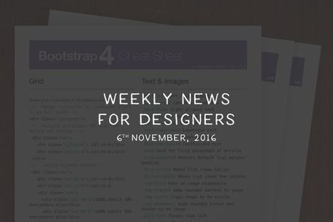 Weekly News for Designers (N.359) - Bootstrap 4 Cheat Sheet, Learn Sketch, Pure CSS Icons | Veille perso | Scoop.it