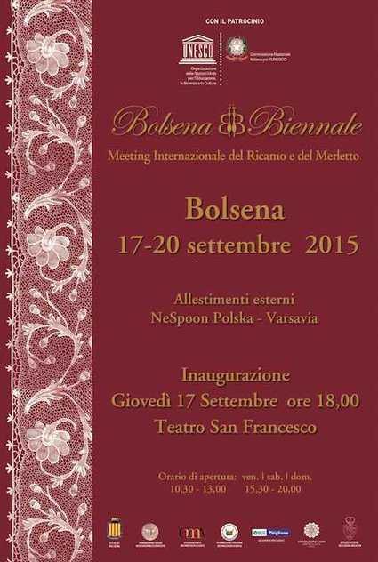Grande attesa per Bolsena Biennale, il meeting internazionale del ricamo e del merletto | Orvietonews.it | Piazza Italiana - Diamo voce al saper fare italiano | Scoop.it