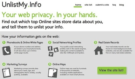 UnlistMy.Info - Your web privacy. In your hands. | The *Official AndreasCY* Daily Magazine | Scoop.it
