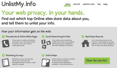 UnlistMy.Info - Your web privacy. In your hands. | KgTechnology | Scoop.it
