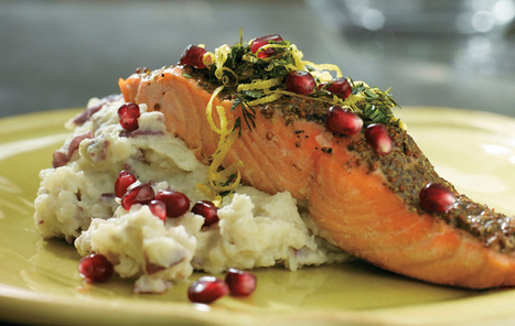 #HealthyRecipe // Pom Broiled Salmon | The Man With The Golden Tongs Goes All Out On Health | Scoop.it