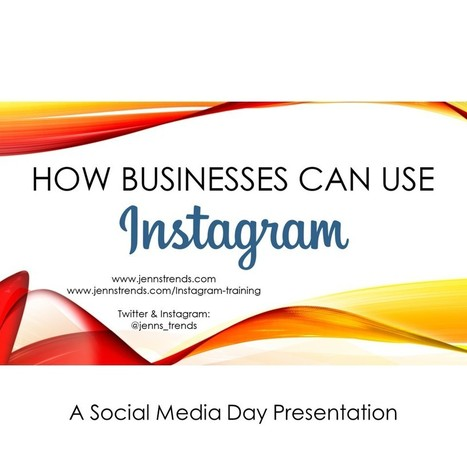 How Businesses Can Use Instagram - Jenn's Trends | Social Media | Scoop.it