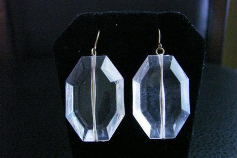 Vintage Lucite Chandelier Earrings / Clear Lucite / Dangle Earrings / Drop Earrings / Wedding Bridal / Jewelry / Jewellery | Vintage and Antique Jewelry & Fashion | Scoop.it