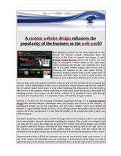 Avail custom website design   Web Design.net   Scoop.it