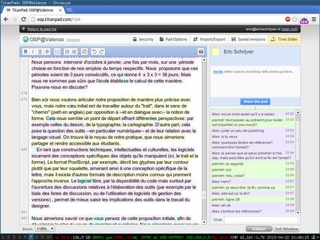 Tâches collaboratives supportées par un Etherpad et par un forum de discussion : analyse de leurs usages et de la progression des apprenants | Didactics & Mathetics | Scoop.it