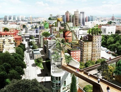 SKYWALKING Stockholm: Bridged Green-Roof Parks to Span Downtown - architecture and design | URBANmedias | Scoop.it