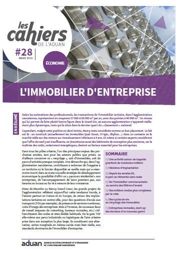 Nancy - Les cahiers de l'Aduan n°28 économie - L'immobilier d'entreprise - Mars 2016 | Dernières publications des agences d'urbanisme | Scoop.it