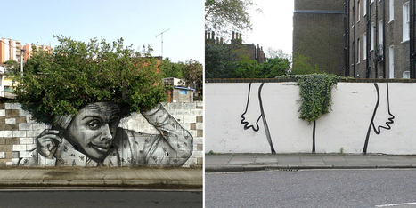 30 Pieces Of Street Art That Cleverly Interact With Nature | ARTE, ARTISTAS E INNOVACIÓN TECNOLÓGICA | Scoop.it