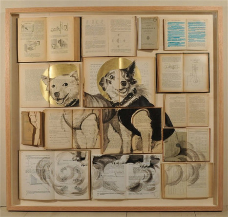 Paintings Created on Old Book Pages | digitalNow | Scoop.it