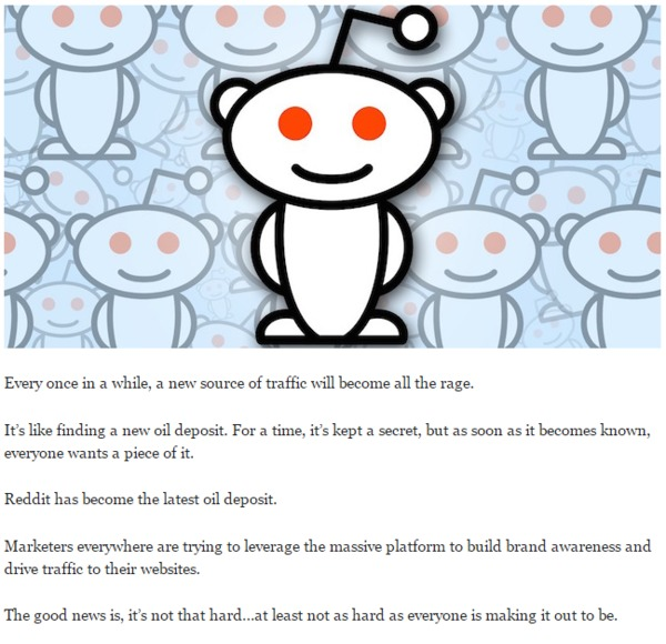 How to Get Your Slice of Reddit's 150 Million Pageviews - QuickSprout | The Marketing Technology Alert | Scoop.it