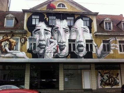 Street art in Karlsruhe, Germany, by DOME. | World of Street & Outdoor Arts | Scoop.it