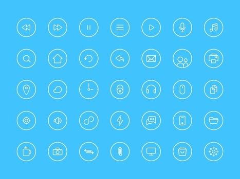 Free Thin Rounded Icons | Web Design Freebies | Scoop.it