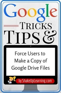 Force Users to Make a Copy of a Google Doc! | Digital Classrooms | Scoop.it