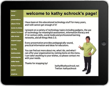 Kathy Schrock's Home Page | InfusePedagogy | Scoop.it
