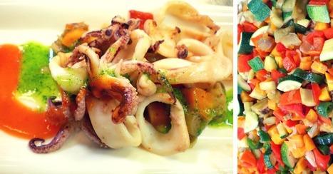 Recette de chipirons à la plancha et légumes croquants | Cuisine et cuisiniers | Scoop.it