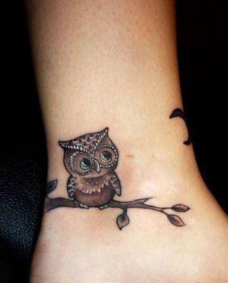 Cute Owl Tattoo on Hand | Girly Tattoos • Tattoo Ideas Zone | articles | Scoop.it