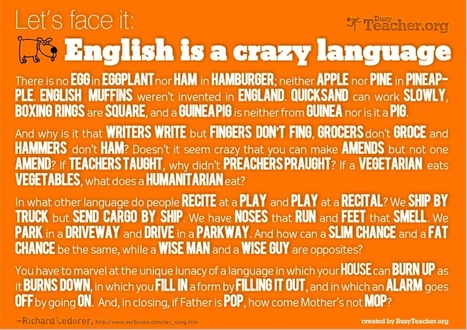POSTER: English Is A Crazy Language | English as a Second language | Scoop.it