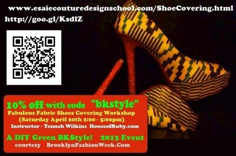 Give Your shoes a second life Fabulous Fabric Shoe Covering Workshop | Brooklyn By Design | Scoop.it