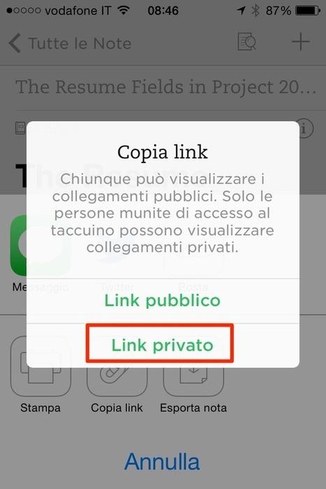 Condividere note private con Evernote per iPhone | Organizza la Tua Vita con Evernote, GTD, e... | Scoop.it