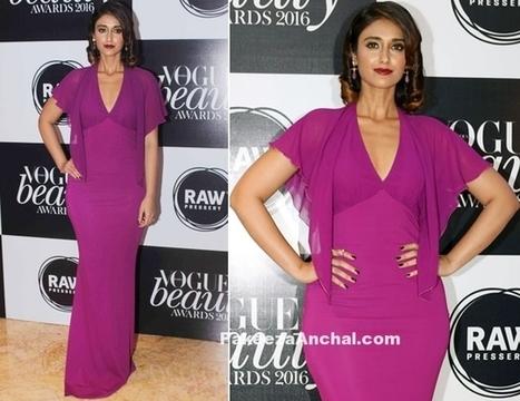 Ileana D'Cruz in Roberto Cavalli Purple Gown   Indian Fashion Updates   Scoop.it
