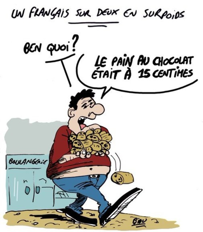 Un français sur deux en surpoids   Baie d'humour   Scoop.it