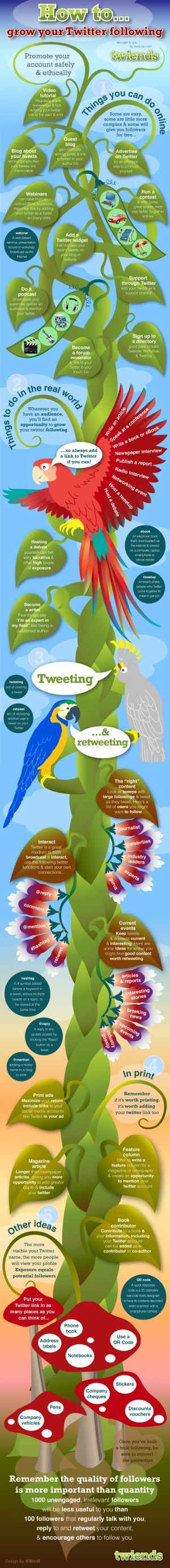 How to Grow a Twitter Following…10.10.11 | Future Trends in Libraries | Scoop.it