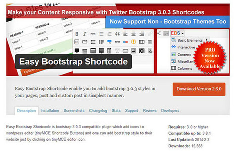 Top 10 Free WordPress Bootstrap Plugins for 2015 | Best PSD to HTML | Wordpress is Here... | Scoop.it