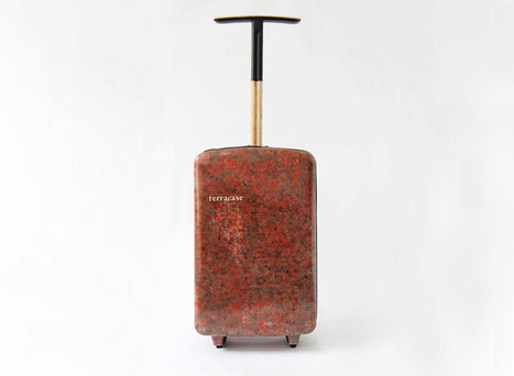 bio-wool hard shell luggage made from recycled carpets - designboom | architecture & design magazine | DESIGN | Scoop.it