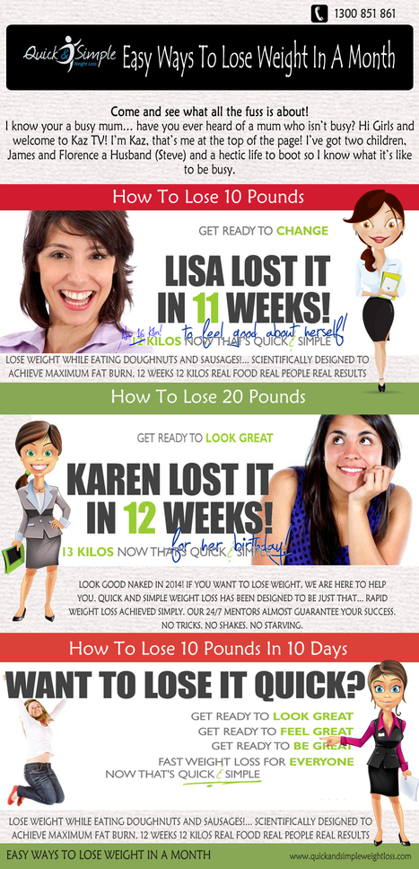 Easy Ways To Lose Weight In A Month | Easy Ways To Lose Weight In A Months | Scoop.it