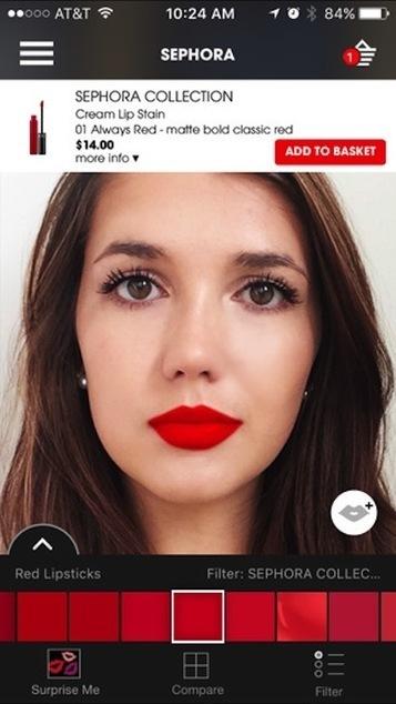 Sephora's Virtual Artist brings augmented reality to large beauty audience   Prestige Brands & Digital   Scoop.it
