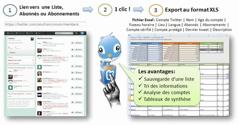 [Docteur Tweety - TwExList] Exportation et Backup d'une Liste Twitter | Abonnés | Abonnements dans une feuille Excel | fqs | Scoop.it